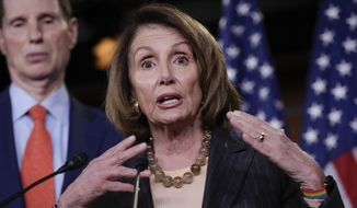 House Minority Leader Nancy Pelosi defended Rep. John Conyers Jr. but on Wednesday put some serious distance between herself and the congressman. (Associated Press/File)