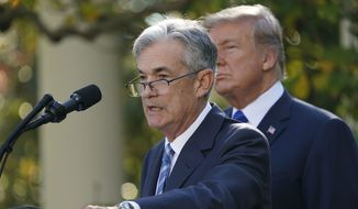 Federal Reserve Board member Jerome Powell spoke to reporters in the White House Rose Garden on Thursday after President Trump announced him as his nominee for the next chair of the Federal Reserve. (Associated Press)