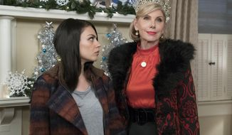 "This image released by STX Entertainment shows Mila Kunis, left, and Christine Baranski in the film, ""A Bad Moms Christmas."" (Hilary Bronwyn Gayle/STX Entertainment via AP)"