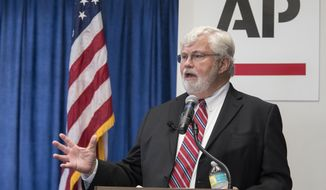 Florida Senator and candidate for governor, Jack Latvala, speaks during the Florida AP Legislative Day at the Florida Capitol, Thursday, Nov 2, 2017. (AP Photo/Mark Wallheiser)