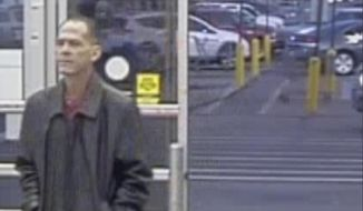This Wednesday, Nov. 1, 2017, image released by the Thornton Police Department shows shooting suspect Scott Ostrem at a Walmart in Thornton, Colo. Colorado authorities identified Ostrema as the man who police say nonchalantly walked into the Walmart and immediately opened fire with a handgun, killing several. (Thornton Police Department via AP)