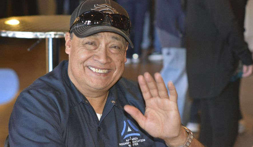 This undated photo, provided by Aurora Higher Education Center, shows Carlos Moreno. Moreno, a grandfather who years as a maintenance worker at a complex of universities in downtown Denver, was killed during a shooting at a suburban Walmart store Wednesday, Nov. 1, 2017. (Auraria Higher Education Center via AP)