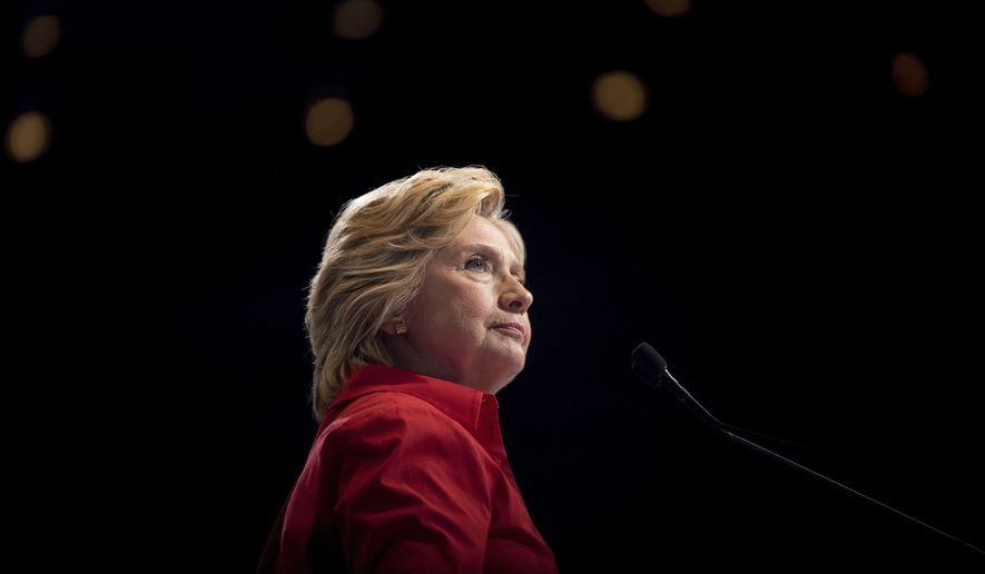 Hillary Clinton used a secret email account tied to a server she kept at her home in New York to do her official government business. Hundreds of classified emails were sent to and from her account, including some labeled as top secret.s. (AP Photo/Andrew Harnik)