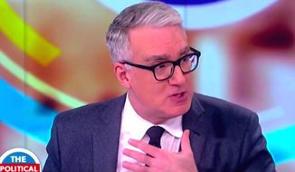 "Liberal pundit Keith Olbermann appears on ABC's ""The View"" on Nov. 3, 2017. (Image: ABC, ""The View"" screenshot) ** FILE **"