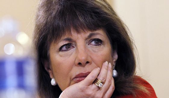 In this March 10, 2011, file photo, Rep. Jackie Speier D-Calif., listens to testimony during a hearing on Capitol Hill in Washington. (AP Photo/Alex Brandon, File)