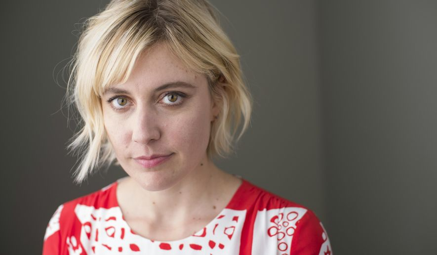 """In this Oct. 6, 2017 photo, Greta Gerwig poses for a portrait in New York to promote her film, """"Lady Bird."""" (Photo by Scott Gries/Invision/AP)"""