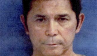 """This undated photo provided by the Portland Police Department shows Lou Diamond Phillips. The actor has been charged with DWI in Texas just hours before a scheduled appearance in Corpus Christi. Police in nearby Portland arrested Phillips early Friday, Nov. 3, 2017. Jail records show bond wasn't immediately set for Phillips, who starred in """"La Bamba.""""  (Portland Police Department via AP)"""