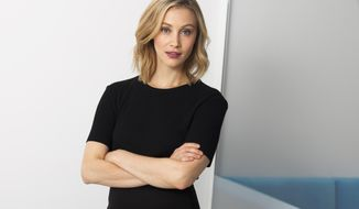 "In this Aug. 16, 2017 photo, actress Sarah Gadon poses for a portrait to promote her series, ""Alias Grace"" in New York. (Photo by Andy Kropa/Invision/AP)"