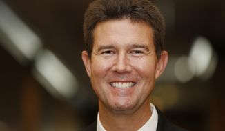 FILE - In this Wednesday, Sept. 17, 2014 file photo, Alabama Republican state Rep. John Merrill poses for portrait in Montgomery, Ala.  Local election officials are rejecting claims by Secretary of State John Merrill that hundreds of people voted illegally in the Alabama U.S. Senate race.  (AP Photo/Brynn Anderson,File)