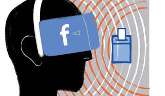 Illustration on the social media echo chamber by Linas Garsys/The Washington Times