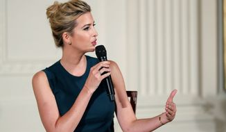 """It's time we recognize as a country that we have to have policies that mirror our values: work and family,"" Ivanka Trump says about tax reform. (Associated Press/File)"
