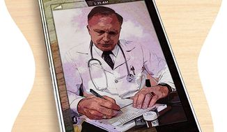 24/7 Doctor App Illustration by Greg Groesch/The Washington Times