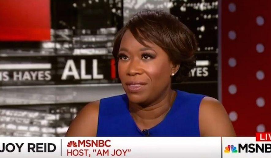 "MSNBC host Joy Reid told her social media followers on Nov. 6, 2017, that the National Rifle Association seeks a future America where ""warlords"" kill innocent victims at will. (Image: Twitter, ""AM Joy"" screenshot) ** FILE **"