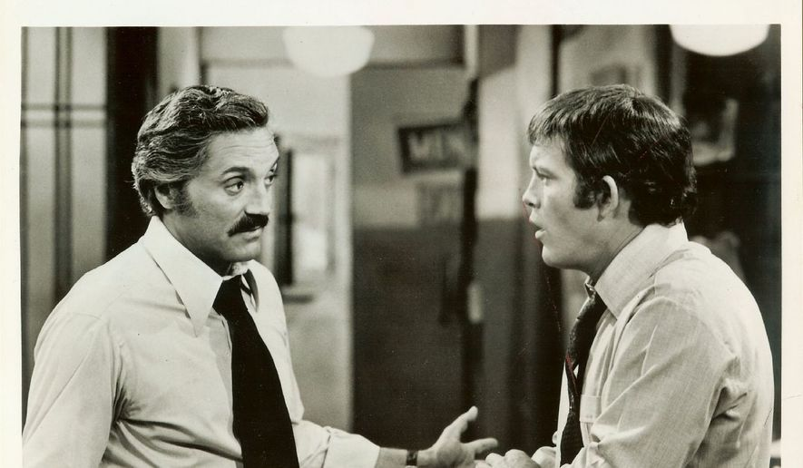 "Captain Barney Miller (Hal Linden) and Detective Stan ""Wojo"" Wojciehowicz (Max Gail) in a scene from ""Barney Miller.""  (Pinterest)"