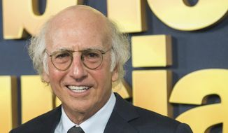 """In this Sept. 27, 2017, file photo, Larry David attends the premiere of HBO's """"Curb Your Enthusiasm"""" at the SVA Theatre in New York. (Photo by Charles Sykes/Invision/AP, File)"""