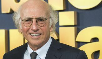 """FILE - In this Sept. 27, 2017, file photo, Larry David attends the premiere of HBO's """"Curb Your Enthusiasm"""" at the SVA Theatre in New York. David was criticized for joking about dating in concentration camps during the Holocaust during his """"Saturday Night Live"""" monologue on Nov. 4, 2017. (Photo by Charles Sykes/Invision/AP, File)"""
