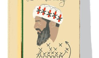 Illustration on the bin Laden diaries' revelations by Linas Garsys/The Washington Times