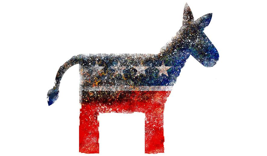 Illustration on the decay of the Democrat Party by Greg Groesch/The Washington Times