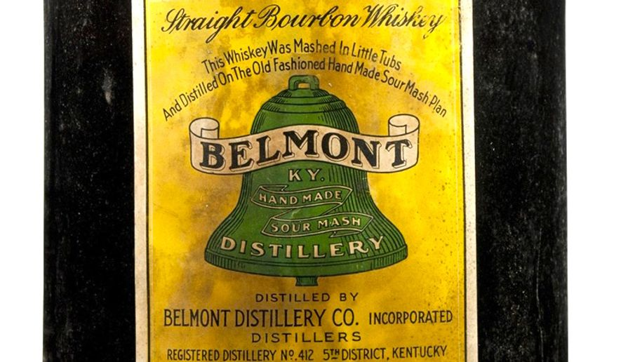 This rare American bourbon distilled in 1900 could fetch $7,000 says Christie's auction house, which says the old bourbons are now important collectibles. (Christie's)