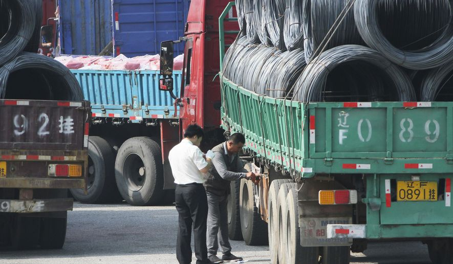 Chinese traders say the crackdown on illicit trade along the North Korean border has eased in the days since President Trump and Kim Jong-un held their June 12 summit in Singapore. (Associated Press/File)
