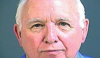 Sen. Paul Campbell is seen in an undated photo provided by the Charleston County Jail. Troopers say Campbell, a South Carolina senator charged with driving under the influence, had a blood-alcohol level above the legal limit on Saturday night, Nov. 4. Campbell told troopers investigating the crash and reporters later that his wife was driving. Authorities say the 71-year-old Goose Creek Republican switched seats with his wife after the wreck. They are both charged with providing false information. (Charleston County Jail via AP)