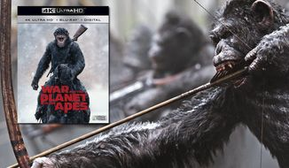 "Digitally created apes shine in ""War for the Planet of the Apes,"" now available on 4K Ultra HD from 20th Century Fox Home Entertainment."