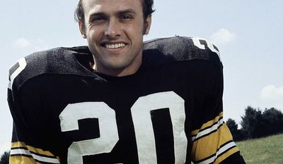 Rocky Bleier was a halfback for the Pittsburgh Steelers in 1968 and from 1971 to 1980. After his rookie season with the Steelers, Bleier was drafted into the U.S. Army in December 1968 during the Vietnam War. He volunteered for duty in South Vietnam and shipped out for Vietnam in May 1969 assigned to Company C, 4th Battalion, 31st Infantry 196th Light Infantry Brigade and assigned as a squad grenadier operating a 40mm M79 grenade launcher. On August 20, while on patrol in Heip Duc, Bleier was wounded in the left thigh by an enemy rifle bullet when his platoon was ambushed in a rice paddy. While he was down, an enemy grenade landed nearby after bouncing off a fellow soldier, sending shrapnel into his lower right leg. He lost part of his right foot in the blast as well. He was later awarded the Bronze Star and Purple Heart.  While he was recovering in a hospital in Tokyo, doctors told him that he could not play football again. After several surgeries, he was discharged from the military in July 1970 and began informal workouts with Steeler teammates. In the summer of 1974, and he earned a spot in the Steelers' starting lineup.