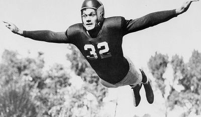 Al Blozis was drafted in the fifth round of the 1942 NFL Draft and played offensive tackle for the New York Giants. He played for the Giants in 1942 and 1943 before entering the military. He was also able to play three games in 1944 while on furlough. Blozis was inducted into the United States Army on December 9, 1943. He was first assigned to duty as a physical instructor at Walter Reed General Hospital and then went through Officers' training at Fort Benning. He was commissioned as a second lieutenant in the 28th Infantry Division. On January 21, 1945, his platoon was in the Vosges Mountains of France scouting enemy lines. When two of his men, a Sergeant and a private, failed to return from a patrol, he went in search of them alone. He never returned. Blozis was first listed as missing, but in April of that year his death was confirmed. His remains were buried at the Lorraine American Cemetery and Memorial in Saint-Avold, Moselle.