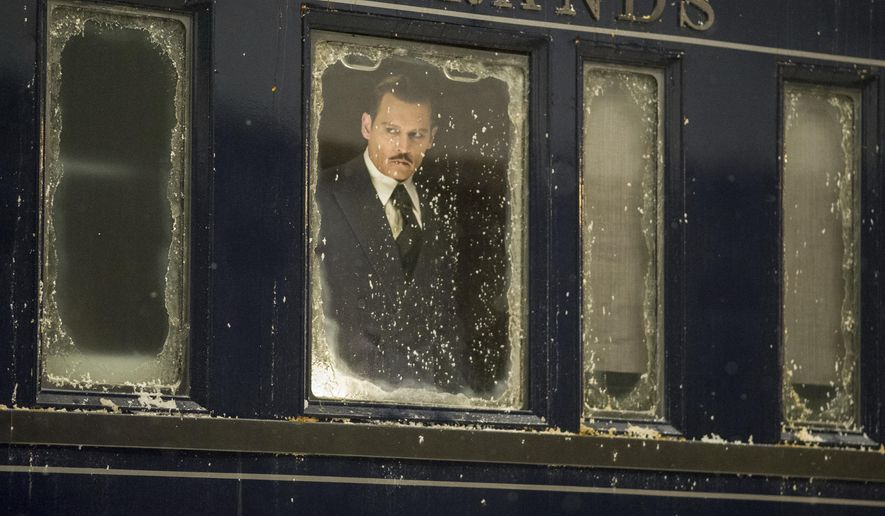 "This image released by Twentieth Century Fox shows Johnny Depp in a scene from, ""Murder on the Orient Express."" (Nicola Dove/Twentieth Century Fox via AP)"
