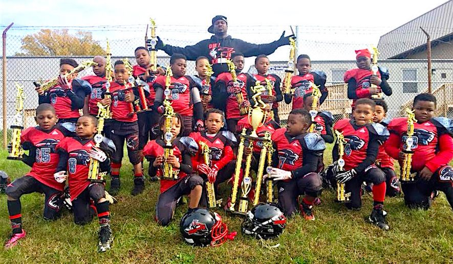 The DMV Knights, made up of five- and six-year old players from the District and Laryland, are undefeated and now have qualified to compete in the United Youth Football League's national championship next month. (Eboni Brown)