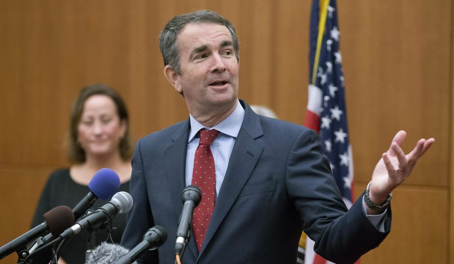 Virginia Gov.-elect, Ralph Northam gestures during a news conference at the Capitol in Richmond, Va., Wednesday, Nov. 8, 2017. Northam defeated Republican Ed Gillespie in Tuesday's election. (AP Photo/Steve Helber)