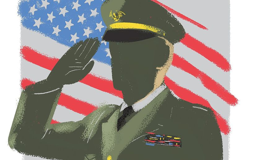 Illustration on Veterans Day by Linas Garsys/The Washington Times