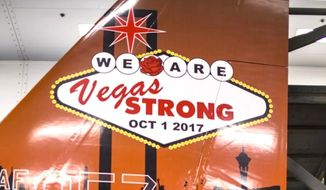 The U.S. Air Force will display a repainted F-15A Eagle to honor victims of the Oct. 1, 2017, mass shooting in Las Vegas. The tribute will be on display Nov 11-12 at the Aviation Nation Air and Space Expo. (Image: U.S. Air Force)