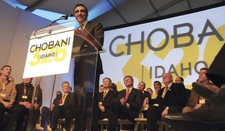 "FILE - In this Dec. 17, 2012 file photo, Chobani CEO Hamdi Ulukaya speaks during the grand opening of the company's new plant in Twin Falls, Idaho. Greek yogurt giant Chobani announced Thursday, Nov. 9, 2017 a $20 million expansion of its world's largest yogurt plant in south-central Idaho to serve as the company's global research and development center. Chobani CEO Hamdi Ulukaya says he's thrilled to begin building a 70,000-square-foot innovation facility in a region he's dubbed the ""Silicon Valley of food.""(Ashley Smith/Times-News via AP, File)"