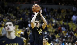 Missouri's Michael Porter Jr. warms up before the start of an NCAA college basketball game between Missouri and Iowa State Friday, Nov. 10, 2017, in Columbia, Mo. (AP Photo/Jeff Roberson) **FILE**