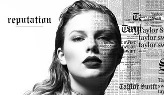 """This cover image released by Big Machine shows art for her upcoming album, """"reputation,"""" expected Nov. 10. (Big Machine via AP)"""