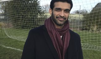 "Hassan Al Thawadi, secretary general of the 2022 Qatar World Cup Supreme Committee for Delivery & Legacy, poses for a photo following an interview with The Associated Press in Sheffield, England on Thursday Nov. 9 2017.  Following comments earlier this year attributed to German soccer federation president Reinhard Grindel, Al Thawadi said Thursday that ""Qatar does not support terrorism. Qatar is at the forefront of the fight against terrorism.""  (AP Photo / Rob Harris)"