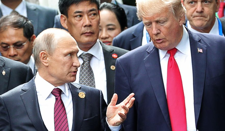 """Russian President Vladimir Putin reminded the West a couple of weeks ago, in effect, """"We have weapons that you can't defend against."""" (Associated Press/File)"""