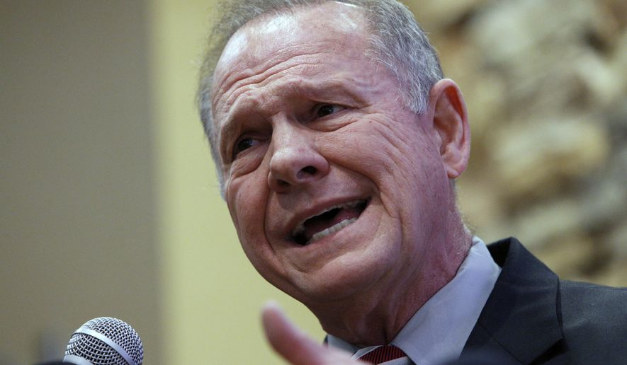 U.S. Senate candidate Roy Moore of Alabama says it is Majority Leader Mitch McConnell who should step aside. (Associated Press)