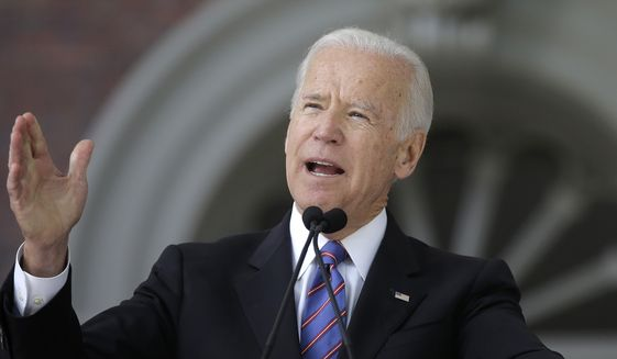 Former Vice President Joseph R. Biden prepares to kick off a book tour this week, just as Democrats think about whom they want to ride into the 2020 presidential election. (Associated Press/File)