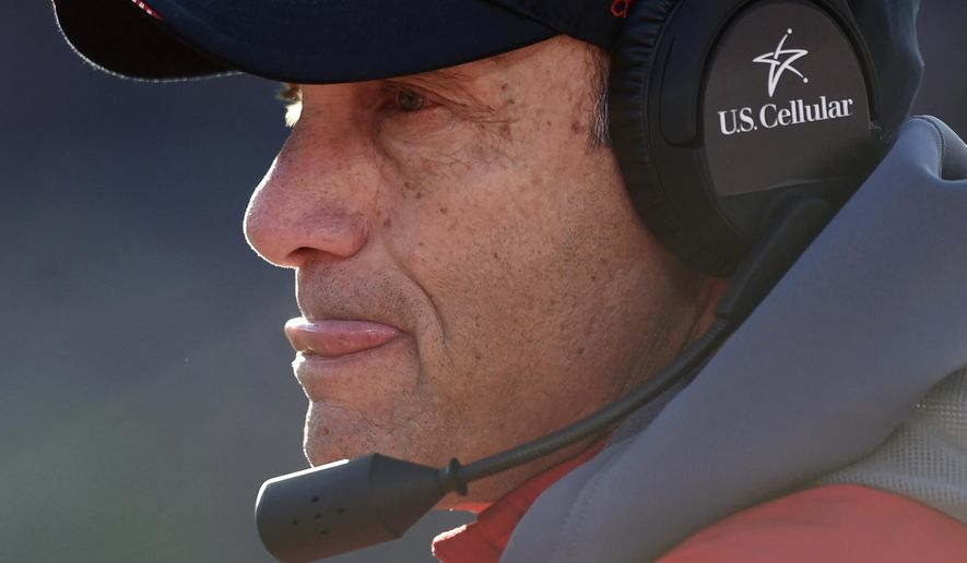 Nebraska head coach Mike Riley watches his team play against Minnesota during the fourth quarter of an NCAA college football game on Saturday, Nov. 11, 2017, in Minneapolis. Minnesota won 54-21. (AP Photo/Hannah Foslien)