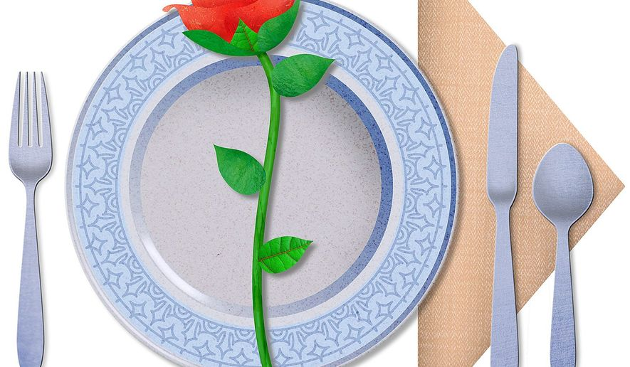Old-fashioned Dinner Romance Illustration by Greg Groesch/The Washington Times