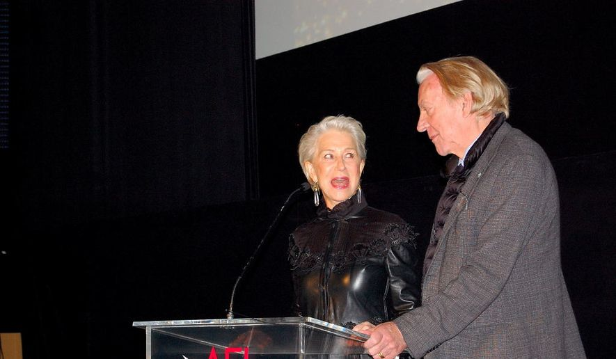 Dame Helen Mirren and Donald Sutherland during a screening at AFI Fest in Los Angeles.  (Ed Rampell)