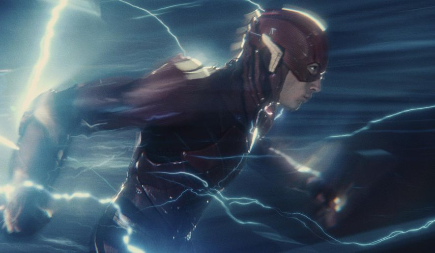 """This image released by Warner Bros. Pictures shows Ezra Miller in a scene from """"Justice League."""" (Warner Bros. Entertainment Inc. via AP)"""