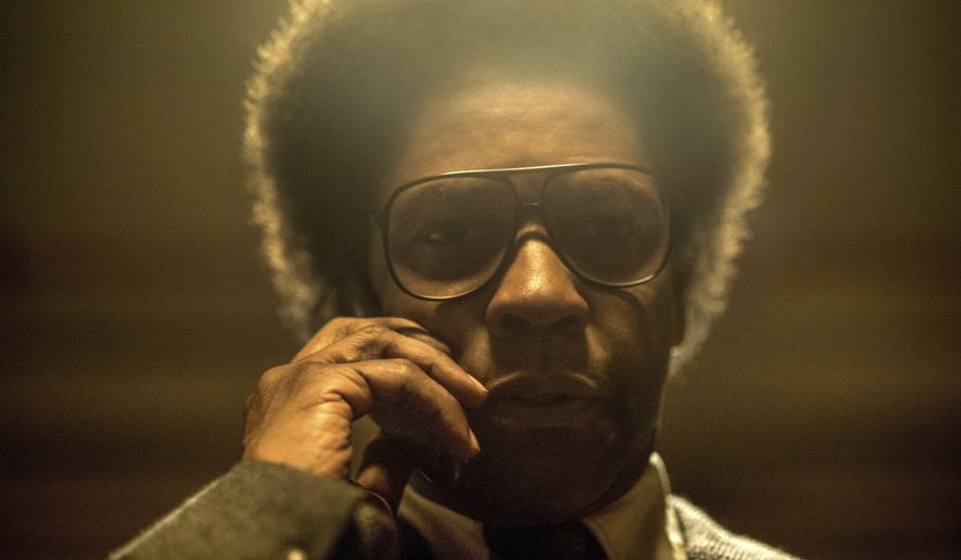 """This image released by Sony Pictures shows Denzel Washington in a scene from """"Roman J. Israel, Esq."""" (Glen Wilson/Sony Pictures via AP)"""