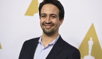 In this Feb. 6, 2017, file photo, Lin-Manuel Miranda arrives at the 89th Academy Awards Nominees Luncheon in Beverly Hills, Calif. (Photo by Jordan Strauss/Invision/AP, File)