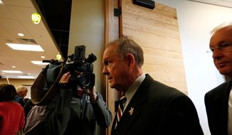 A new study comparing broadcast coverage of Roy Moore and Sen. Bob Menendez finds Mr. Moore garnering 40-times more coverage than the Democratic lawmaker, who faces corruption charges. (Associated Press)