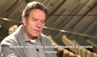 Actor Bryan Cranston speaks with the BBC on Hollywood's ongoing sex scandal for an interview published Nov. 13, 2107. (Image: BBC video screenshot)