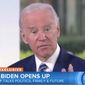 "Former Vice President Joe Biden answers a question about gun control during an NBC ""Today"" appearance, Nov. 14, 2017. (Image: NBC, ""Today"" screenshot)"