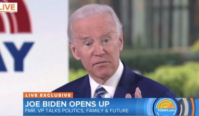 """Former Vice President Joe Biden answers a question about gun control during an NBC """"Today"""" appearance, Nov. 14, 2017. (Image: NBC, """"Today"""" screenshot)"""